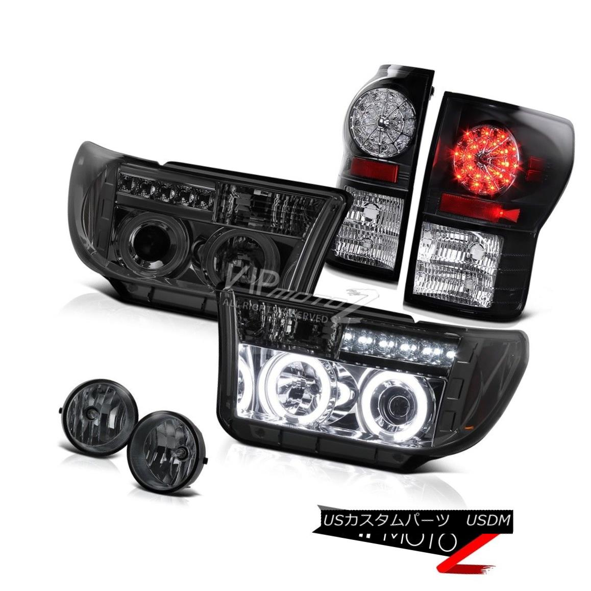 ヘッドライト CCFL Halo Projector Headlight+Led Tail Light+Fog Lamp Toyota 2007-13 Tundra CCFL Haloプロジェクターヘッドライト+ Ledテールライト+ FogランプToyota 2007-13 Tundra