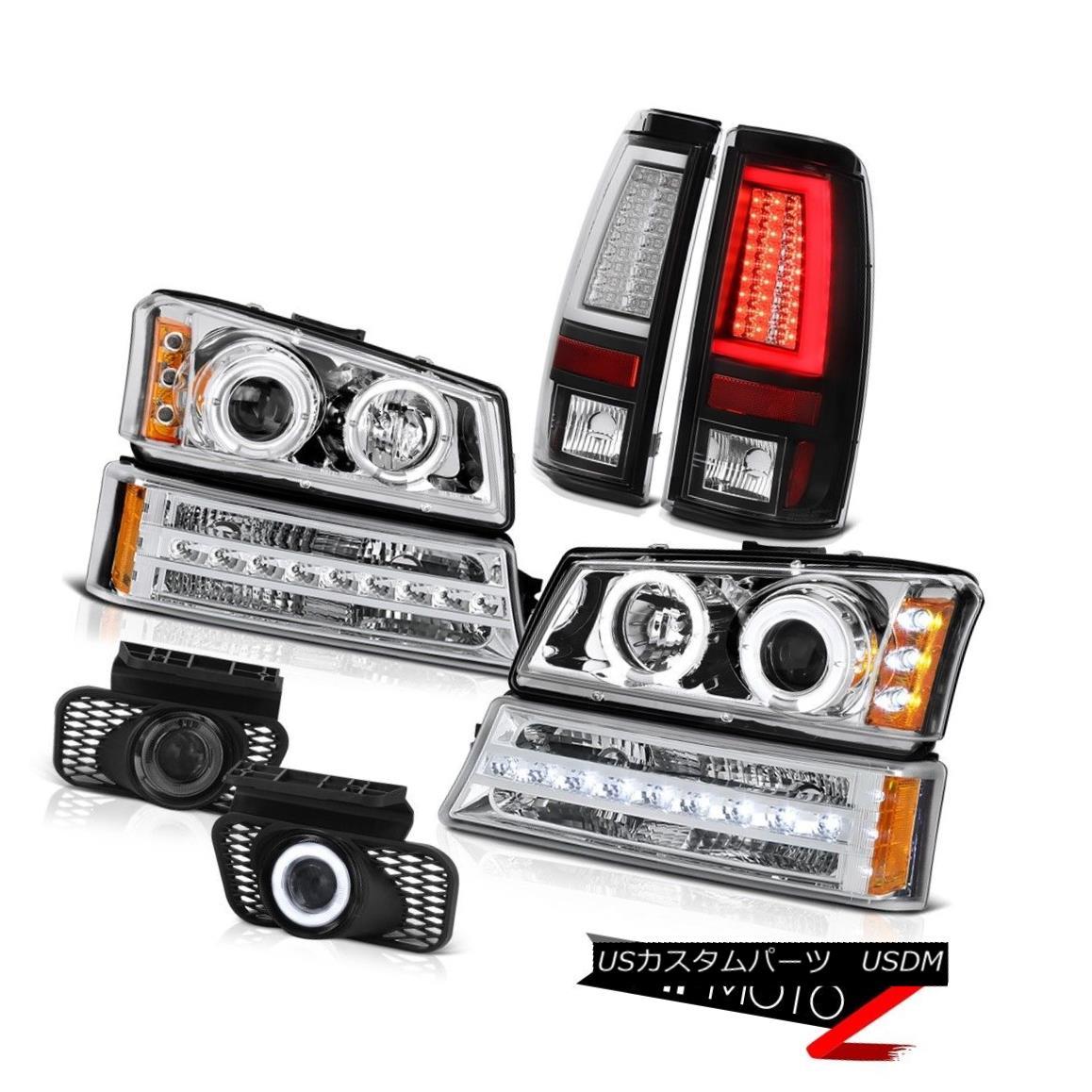 ヘッドライト 2003-2006 Silverado 1500 Tail Lamps Fog Chrome Turn Signal Projector Headlights 2003-2006 Silverado 1500テールランプフォグクロームターンシグナルプロジェクターヘッドライト