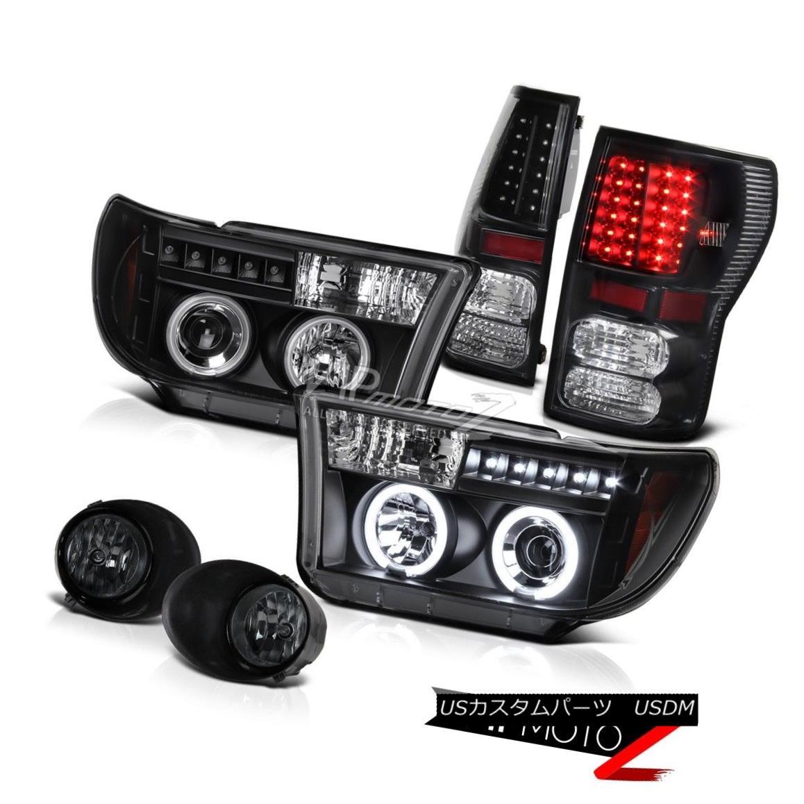 ヘッドライト CCFL Halo Projector Headlight+Led Tail Light+Fog Lamp Toyota Tundra 07-13 SR5 CCFLハロープロジェクターヘッドライト+ Ledテールライト+ FogランプToyota Tundra 07-13 SR5