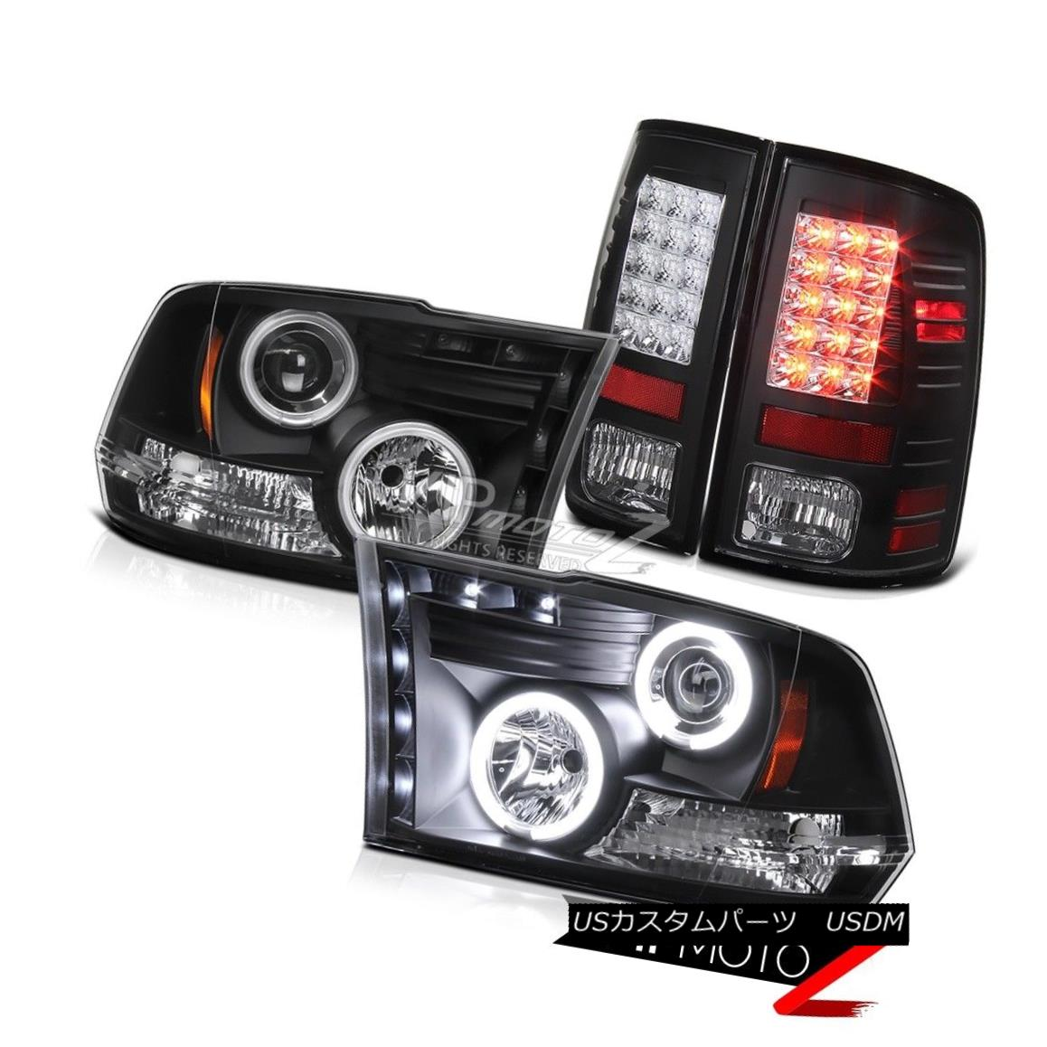 ヘッドライト 2009-2010-2011-2012-2013-2018-2018 Dodge Ram LED CCFL Headlight Tail Light BLACK 2009-2010-2011  -2012-2013-201  8-2018 Dodge Ram LED CCFLヘッドライトテールライトBLACK