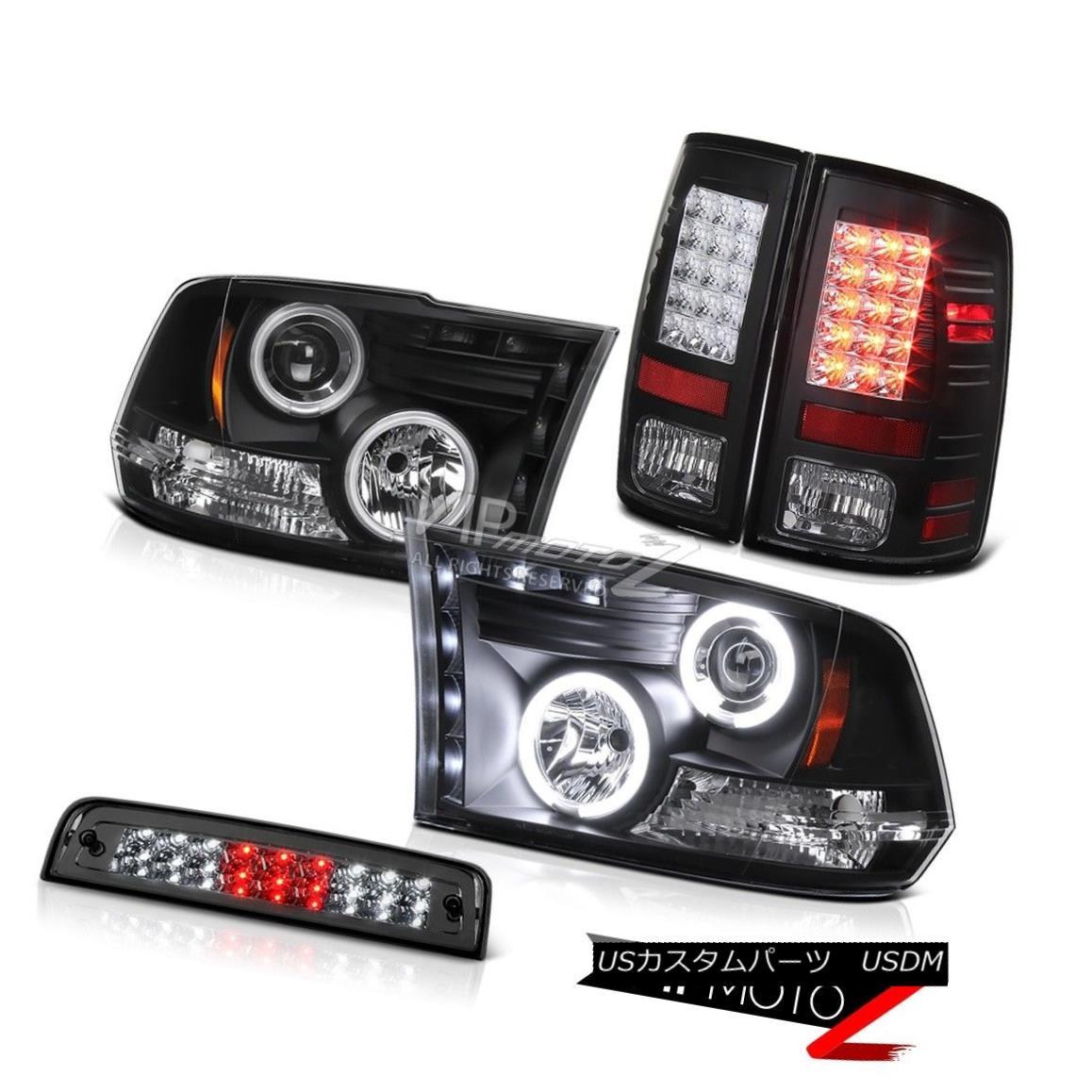 ヘッドライト 09-18 Dodge Ram 1500 6.4L Roof Brake Light Parking Lights Headlamps LED CCFL Rim 09-18ダッジラム1500 6.4LルーフブレーキライトパーキングライトヘッドランプLED CCFLリム