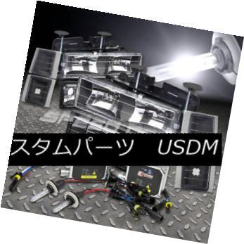 ヘッドライト FOR 94-98 TAHOE/BLAZER/C1500 C/K BLACK HEADLIGHT 8 PCS+9006 BULBS 6000K HID KIT FOR 94-98 TAHOE / BLAZER / C  1500 C / K BLACKヘッドライト8 PCS + 9006 BULBS 6000K HID KIT