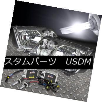 ヘッドライト CHROME LENS HEADLIGHTS+H4 BULBS 6000K HID KIT+AC BALLAST FOR 99-05 JETTA MK4 CHROMEレンズヘッドライト+ H4 BULBS 6000K HID KIT + ACバスタブ99-05 JETTA MK4