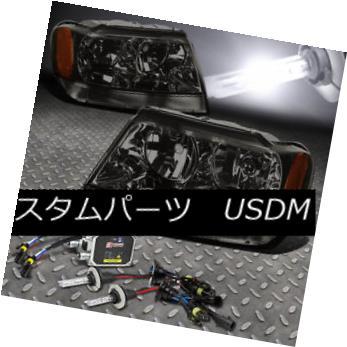 ヘッドライト FITS 99-04 GRAND CHEROKEE SUV SMOKED HEADLIGHT+9006 BULBS 6000K HID KIT+BALLAST FITS 99-04グランチェロキーSUVスモークヘッドライト+ 9006 BULBS 6000K HID KIT + BALLAST