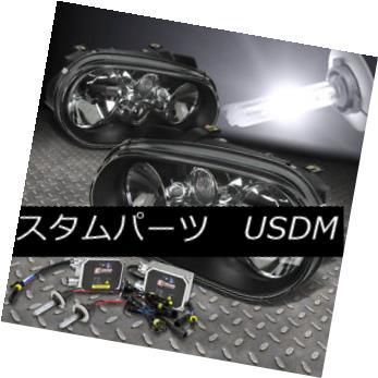 ヘッドライト BLACK HEADLIGHT+H7 BULBS 6000K HID+BALLAST FOR 99-06 VOLKSWAGEN GOLF/CABRIO MK4 ブラックヘッドライト+ H7バルク6000K HID +バラスト99-06フォークウォーグゴルフ/キャブリオMK4