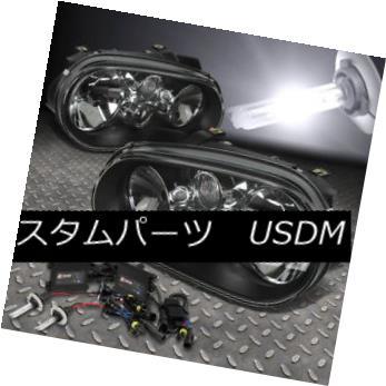 ヘッドライト BLACK HEADLIGHT+H7 6000K HID+SLIM BALLAST FOR 99-06 VOLKSWAGEN GOLF/CABRIO MK4 ブラックヘッドライト+ H7 6000K HID +スリムバラスト(99-06フォークホワイトゴルフ/キャブリオMK4)