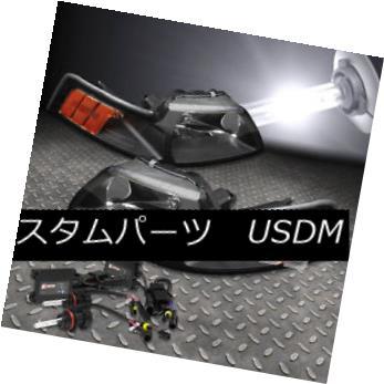 ヘッドライト FITS 99-04 MUSTANG SN-95 BLACK HEADLIGHTS AMBER LAMPS+6000K HID+SLIM BALLAST FITS 99-04 MUSTANG SN-95ブラックヘッドライトアンバーランプ+ 6000K HID +スリムバラスト