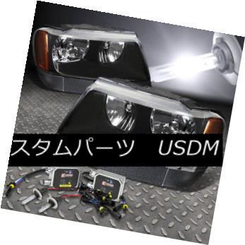 ヘッドライト FITS 99-04 GRAND CHEROKEE SUV BLACK HEADLIGHT+9006 BULBS 6000K HID KIT+BALLAST FITS 99-04 GRAND CHEROKEE SUV BLACKヘッドライト+ 9006 BULBS 6000K HID KIT + BALLAST