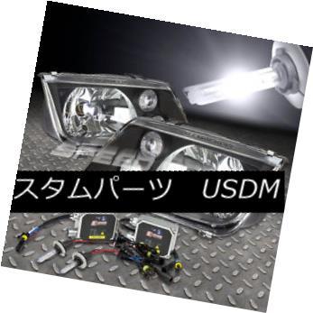 ヘッドライト FITS 1999-2005 VW JETTA/BORA BLACK LENS HEADLIGHT LAMP+H4 BULB 6000K HID KIT FITS 1999-2005 VW JETTA / BORA BLACKレンズヘッドライトランプ+ H4 BULB 6000K HID KIT