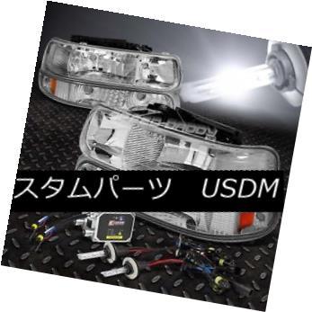 ヘッドライト FITS 99-02 SILVERADO/TAHOE/SUBURBAN CHROME 4-PCS HEADLIGHT+9006 BULBS 6000K HID FITS 99-02 SILVERADO / TAHO E / SUBURBAN CHROME 4-PCSヘッドライト+ 9006 BULBS 6000K HID