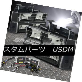 ヘッドライト FITS 88-93 GMC C/K SUBURBAN 15/25 BLACK HEADLIGHT 8-PIECES+9006 BULB 6000K HID FITS 88-93 GMC C / K SUBURBAN 15/25 BLACK HEADLIGHT 8-PIECES + 9006 BULB 6000K HID