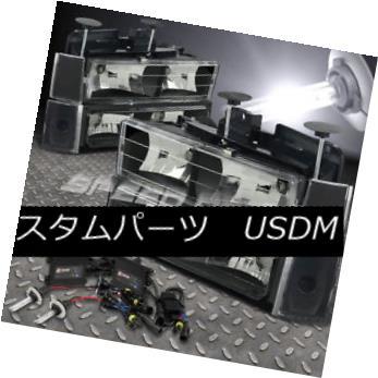 ヘッドライト FOR 88-93 TAHOE/BLAZER/YUKON C/K BLACK HEADLIGHT 8 PCS+9006 6000K SLIM HID KIT 88-93 TAHOE / BLAZER / Y  UKON C / K BLACKヘッドライト8 PCS + 9006 6000Kスリムハイドキット