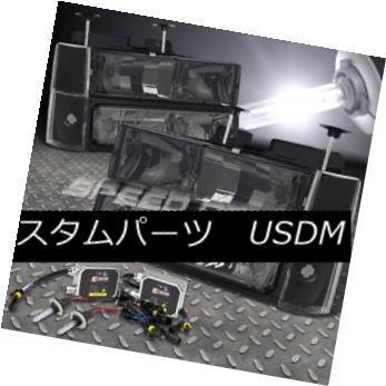 ヘッドライト FOR 88-93 TAHOE/YUKON/BLAZER SMOKED HEAD LIGHT+BUMPER+CORNER+9006 BULB 6000K HID 88-93 TAHOE / YUKON / BL  AZER SMOKEDヘッドライト+バンパー+ C ORNER + 9006 BULB 6000K HID