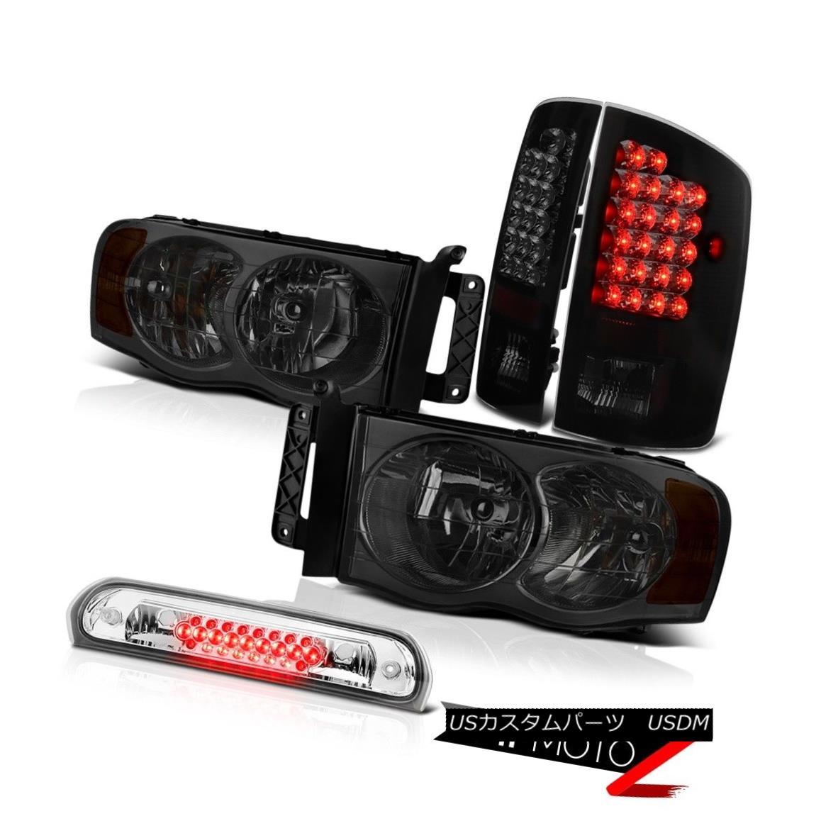 ヘッドライト Smoke Headlights Signal LED Tail Lights Third Brake Cargo 02 03 04 05 Dodge Ram 煙ヘッドライト信号LEDテールライト第3ブレーキ貨物02 03 04 05 Dodge Ram