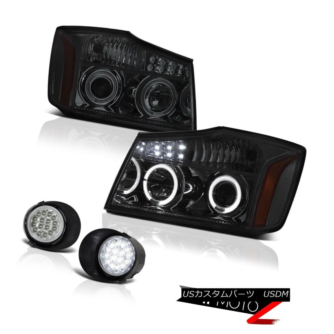 ヘッドライト For 04-15 Titan SV Headlights Tail Lights Headlamp Smoke LED Bumper Driving Fog 04-15タイタンSVヘッドライトテールライトヘッドランプスモークLEDバンパードライビングフォグ