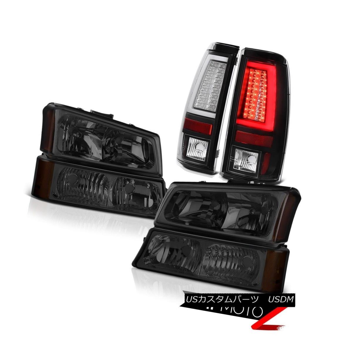 ヘッドライト 2003-2006 Chevy Silverado Raven Black Taillights Dark Smoke Headlights Light Bar 2003-2006シボレーシルバラードレイブンブラックテイルライトダークスモークヘッドライトライトバー