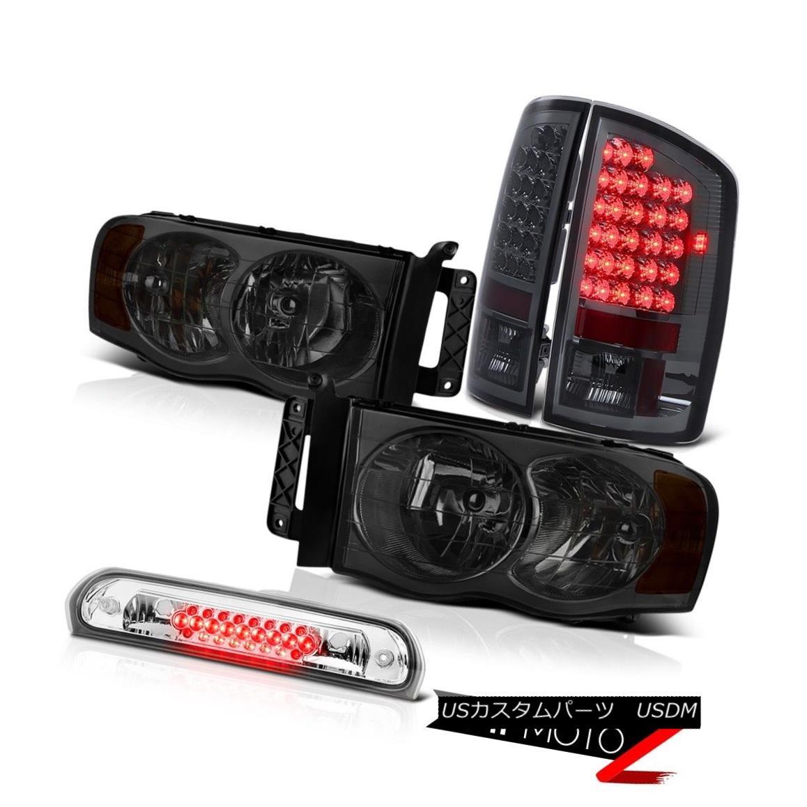 ヘッドライト Darkest Tinted Smoke Headlamps Tail Lights LED High Brake Cargo 02-05 Ram WS 最も暗い色付きの煙ヘッドランプテールライトLEDハイブレーキ貨物02-05 Ram WS