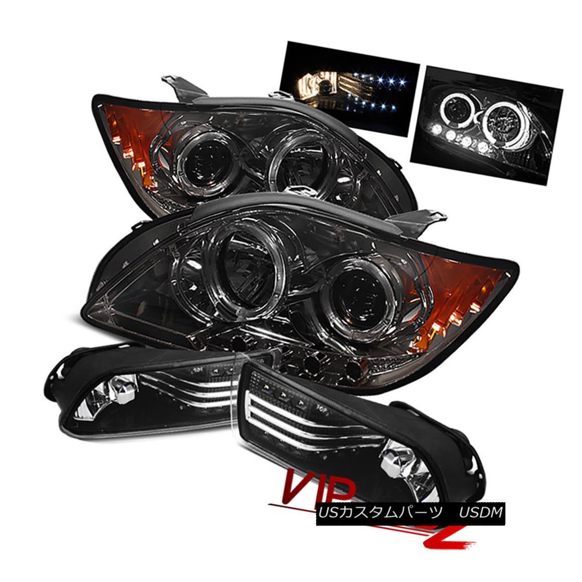 ヘッドライト Smoke/Chrome Halo Projector SMD DRK Headlight+LED Tail Light Lamp 05-07 Scion tC Smoke / Chrome HaloプロジェクターSMD DRKヘッドライト+ LEDテールライトランプ05-07 Scion tC