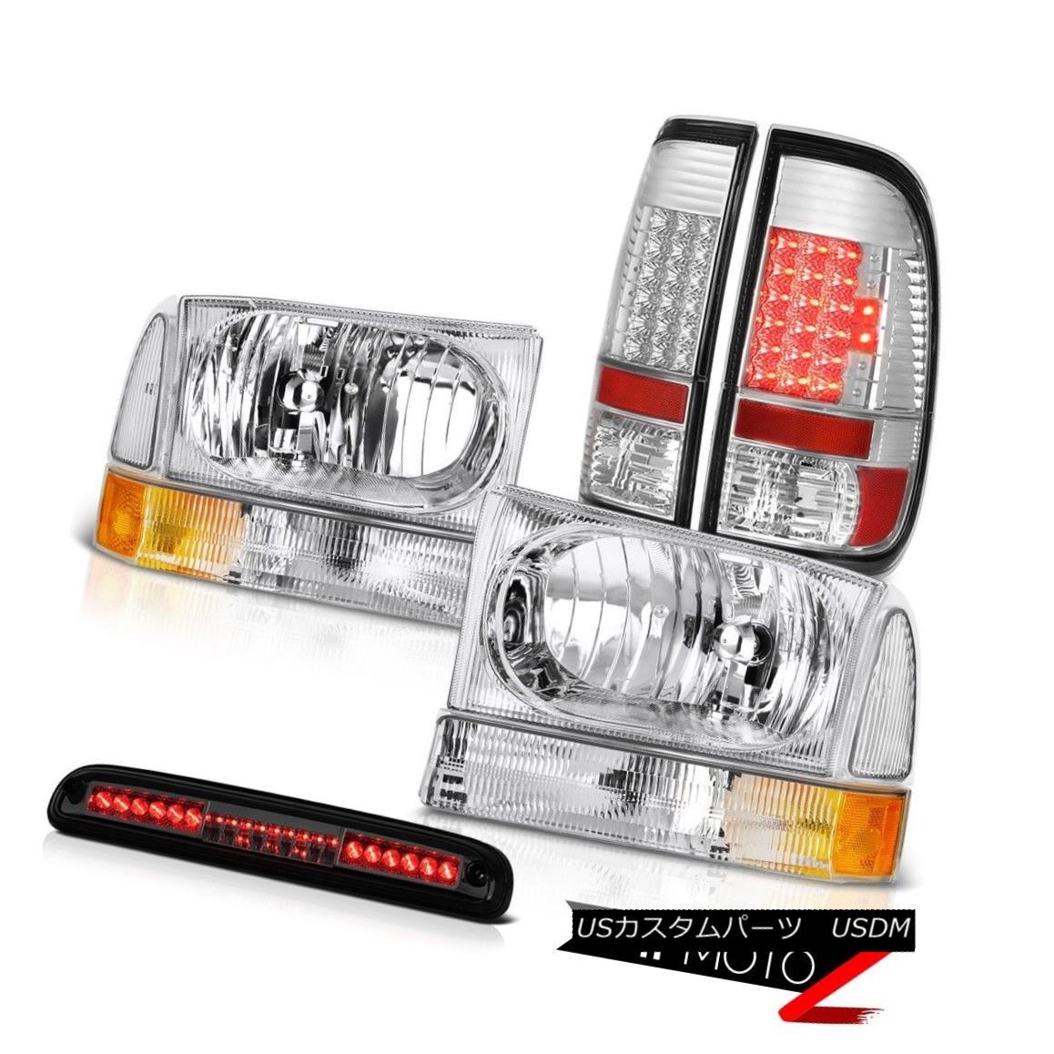 ヘッドライト 99 00 01 02 03 04 Ford SuperDuty Clear Headlights LED Taillamps Chrome 3rd Cargo 99 00 01 02 03 04フォードSuperDutyクリアヘッドライトLEDタイルランプChrome 3rd Cargo