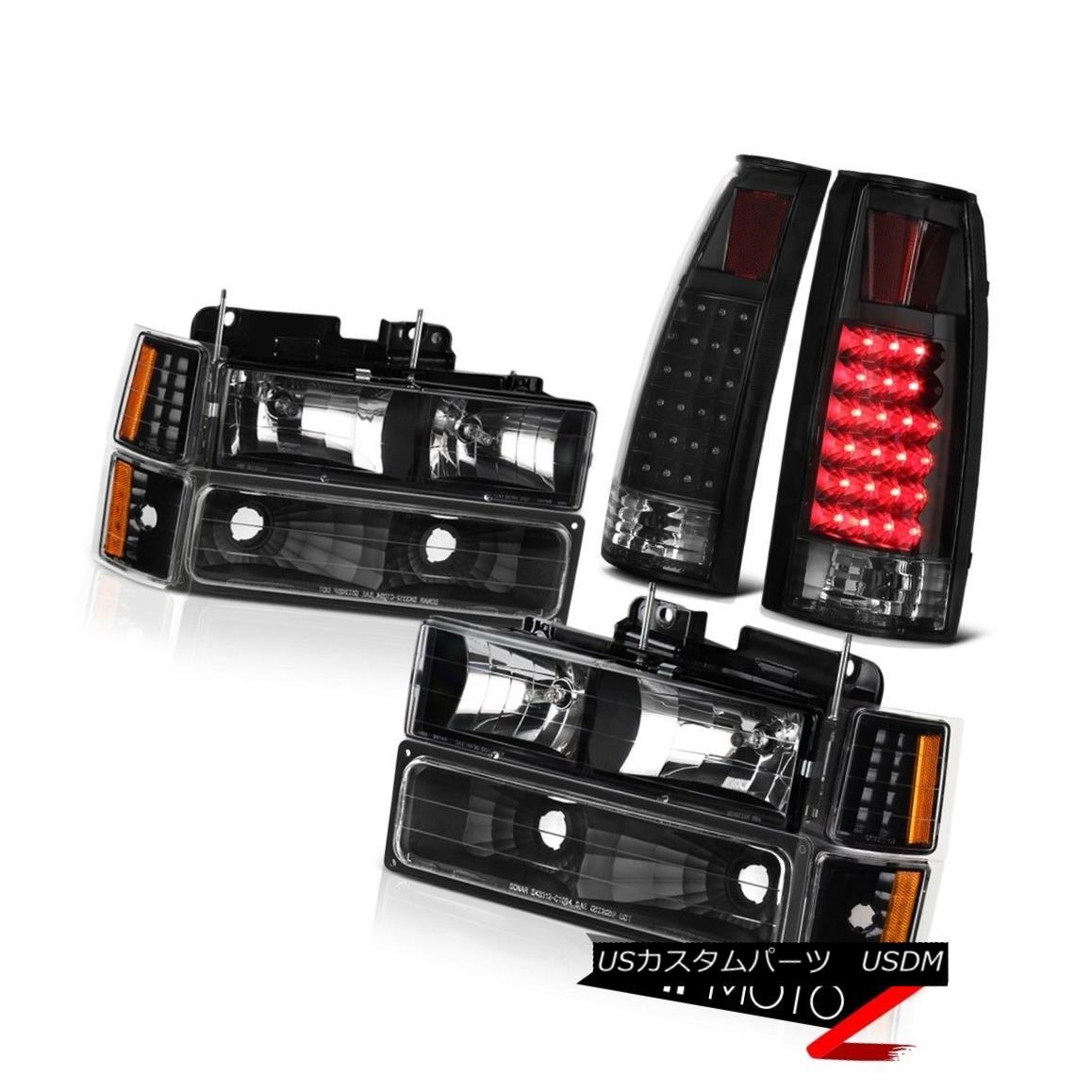ヘッドライト 1994-2000 C2500 C3500 K2500 K3500 Black LED Tail Lights Lamp Headlight Headlamps 1994-2000 C2500 C3500 K2500 K3500ブラックLEDテールライトランプヘッドライトヘッドランプ