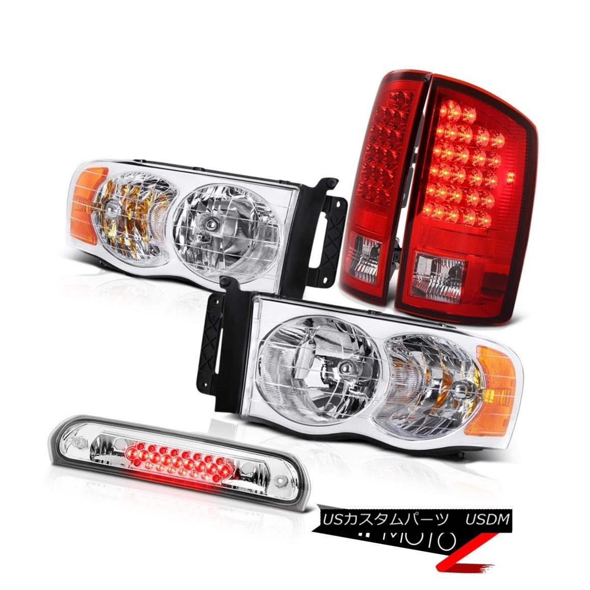 ヘッドライト Crystal Headlights Rosso Red LED Tail Lights Roof Stop Clear 02 03 04 05 Ram V8 クリスタルヘッドライトロッソレッドLEDテールライトルーフストップクリア02 03 04 05 Ram V8