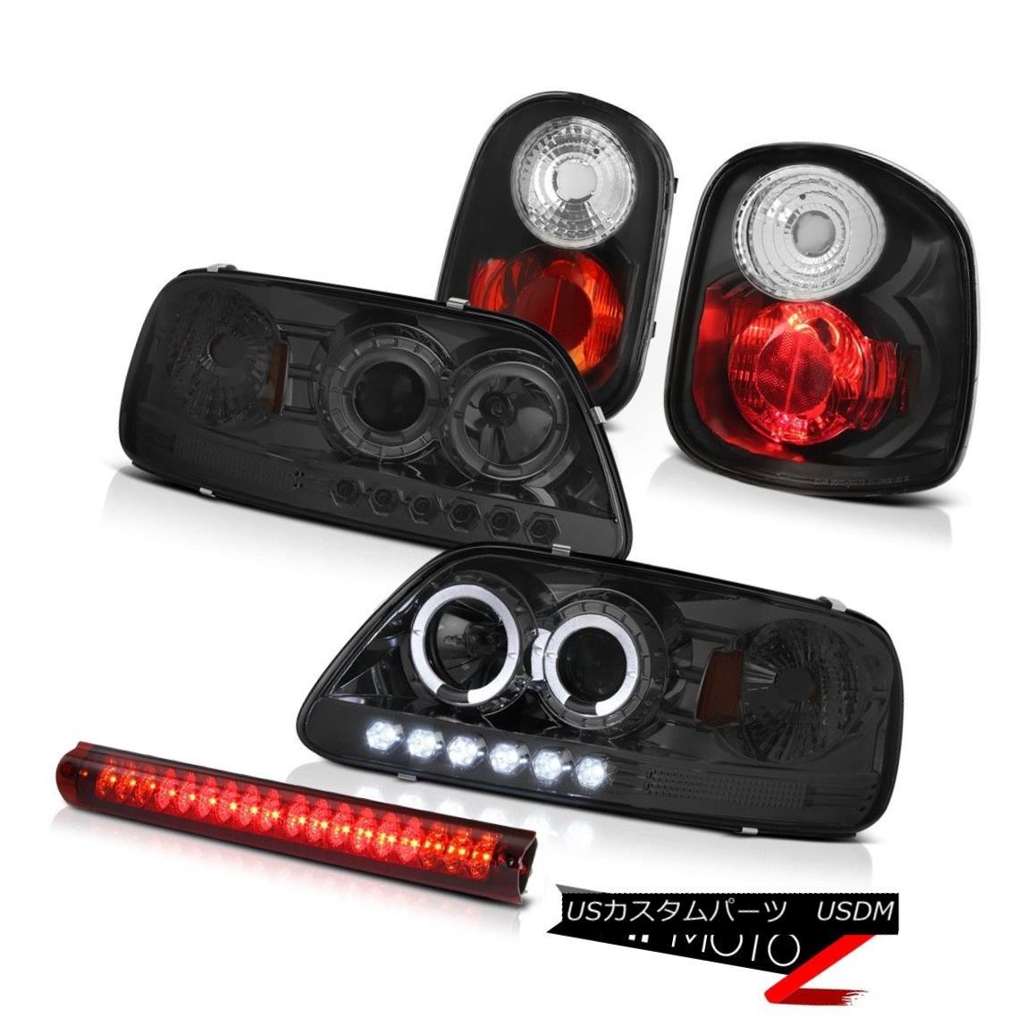 ヘッドライト 2001 02 2003 F150 Flareside 4.6L Smoke Halo Headlights Rear 3rd Brake Lights LED 2001 02 2003 F150フラレイド4.6Lスモークハローヘッドライトリア第3ブレーキライトLED
