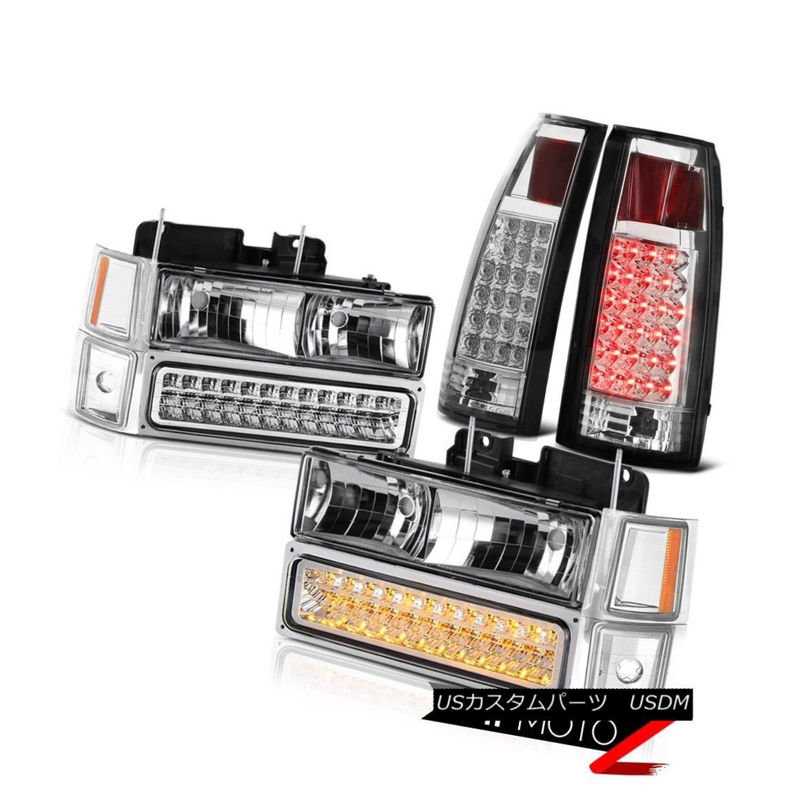 ヘッドライト 1994 1995 1996 1997 1998 Silverado Tahoe Suburban LED Chrome Tail Lamp Headlight 1994 1995 1995 1996 1997 1998シルバード・タホ郊外LEDクロームテールランプ・ヘッドライト