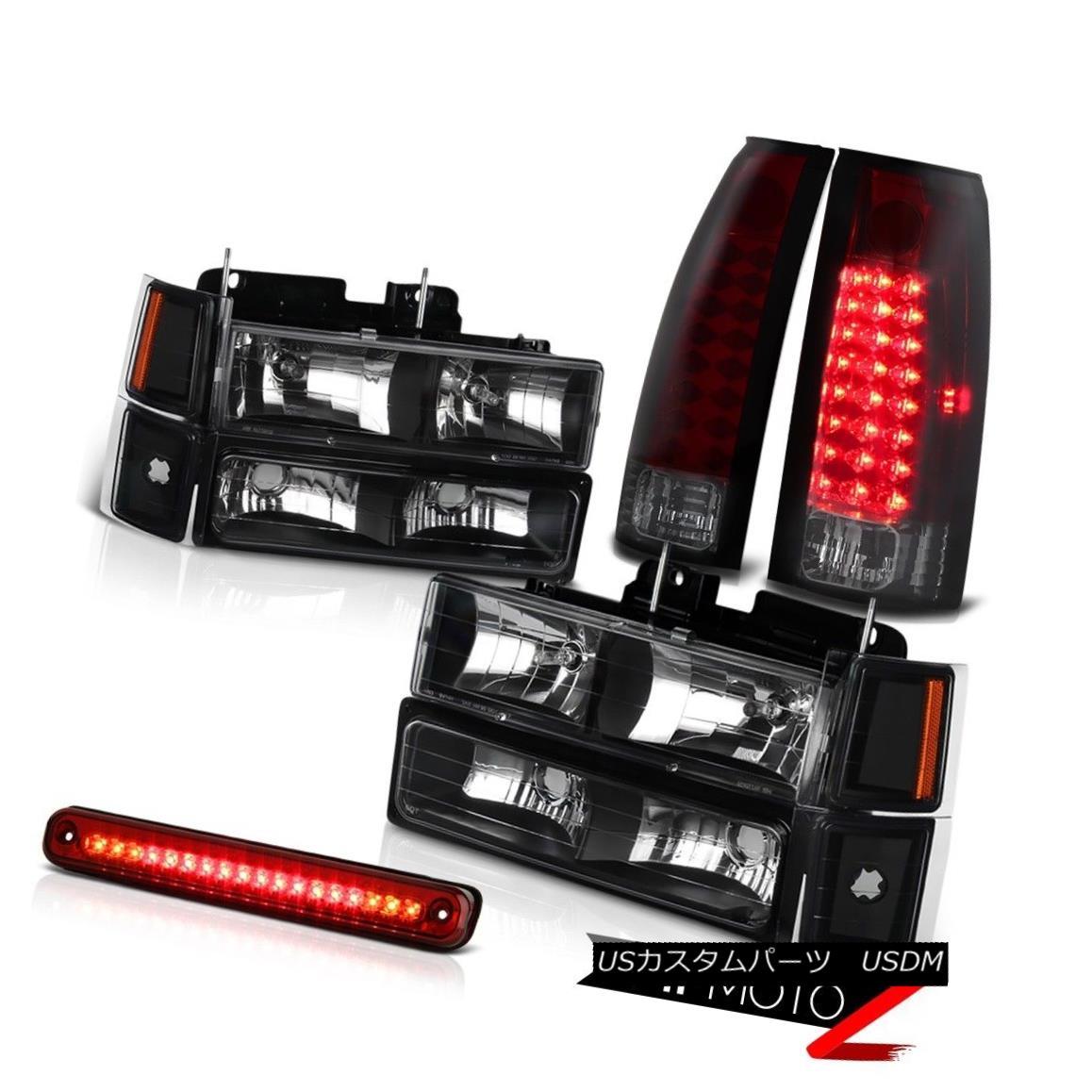 ヘッドライト Corner+Bumper Lamp+3RD Brake+Taillights+Headlight LED Red Smoke Chevy CK Trucks コーナー+バンパーランプ+ 3RDブレーキ+ Tailligh  ts +ヘッドライトLEDレッドスモークシボレーCKトラック