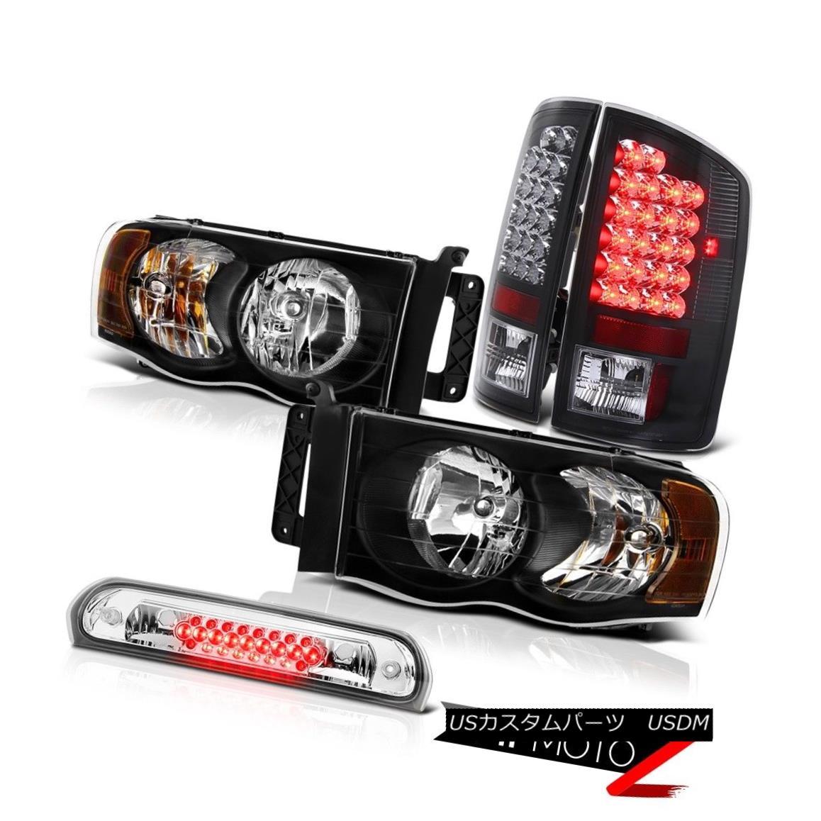 ヘッドライト Black Headlamps SMD Brake Tail Lights High Stop LED Chrome 02 03 04 05 Ram V8 ブラックヘッドランプSMDブレーキテールライトハイストップLED Chrome 02 03 04 05 Ram V8