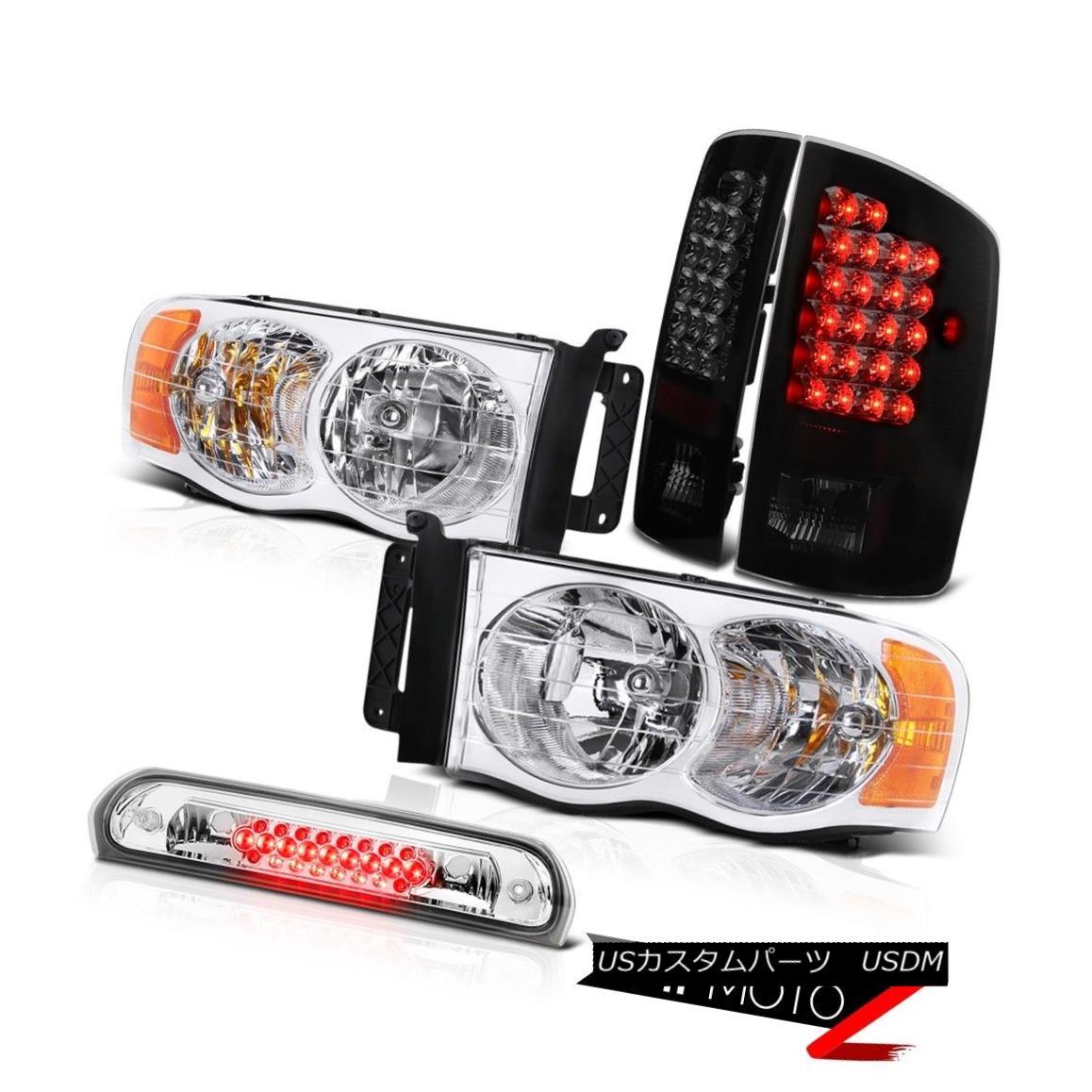 ヘッドライト Chrome Headlamps Smoke Tinted LED Tail Lights Roof Brake 02 03 04 05 Dodge Ram クロームヘッドランプ煙を発するLEDテールライトルーフブレーキ02 03 04 05 Dodge Ram
