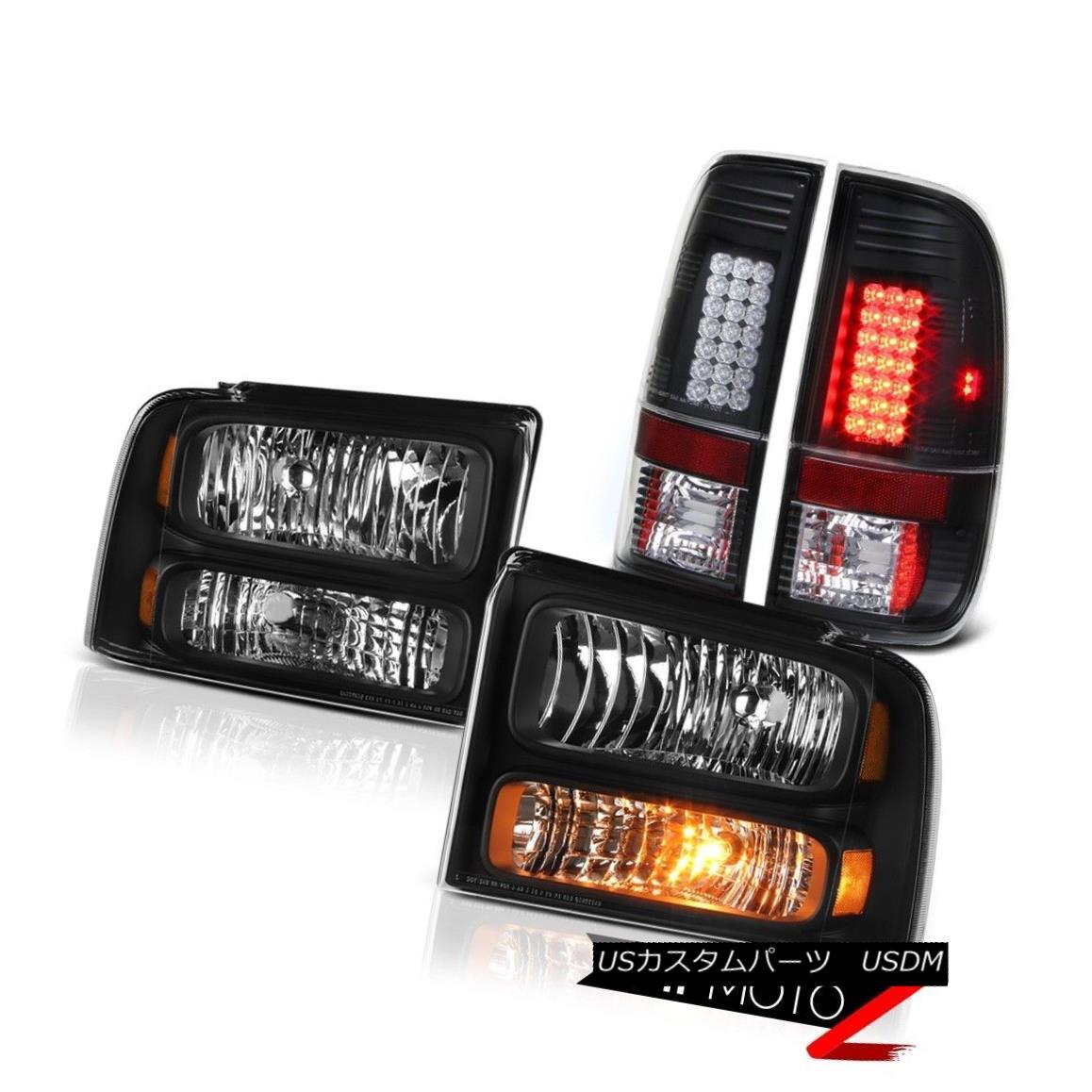 ヘッドライト Left Right Headlights SMD Tail Lights Black 2005 2006 2007 Ford F350 Amarillo 左のライトヘッドライトSMDテールライトブラック2005 2006 2007 Ford F350 Amarillo