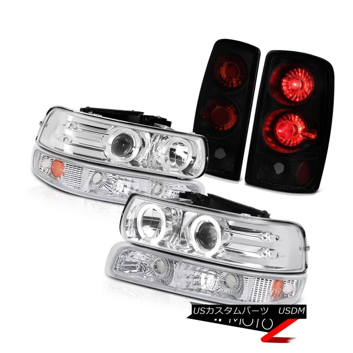 ヘッドライト Chrome Headlights Parking Smoke Black Tail Lamps 00 01 02 03 04 05 06 Tahoe Z71 クロームヘッドライトパーキングスモークブラックテールランプ00 01 02 03 04 05 06タホZ71