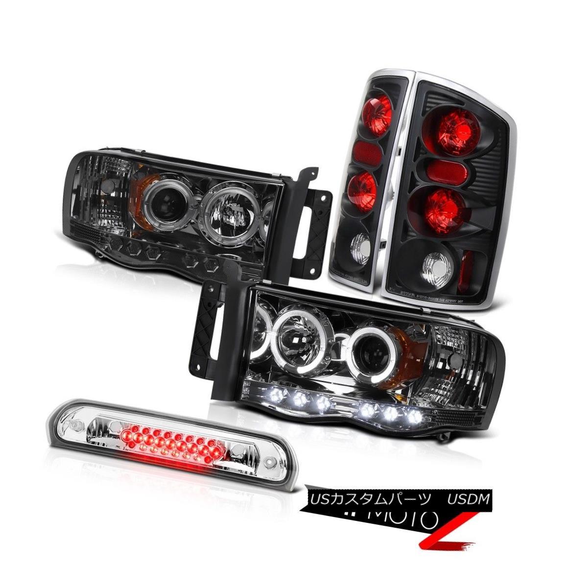 ヘッドライト Angel Eye Headlamps Rear Brake Lights Roof Cargo LED 02 03 04 05 Ram Magnum V8 エンジェルアイヘッドランプリアブレーキライトルーフカーゴLED 02 03 04 05ラムマグナムV8