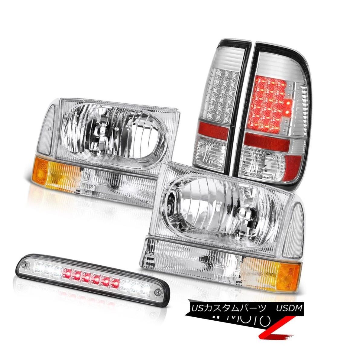 ヘッドライト 99 00 01 02 03 04 F350 6.0L Pair Headlights SMD Tail Lights Roof Stop LED Clear 99 00 01 02 03 04 F350 6.0LペアヘッドライトSMDテールライトルーフストップLEDクリア