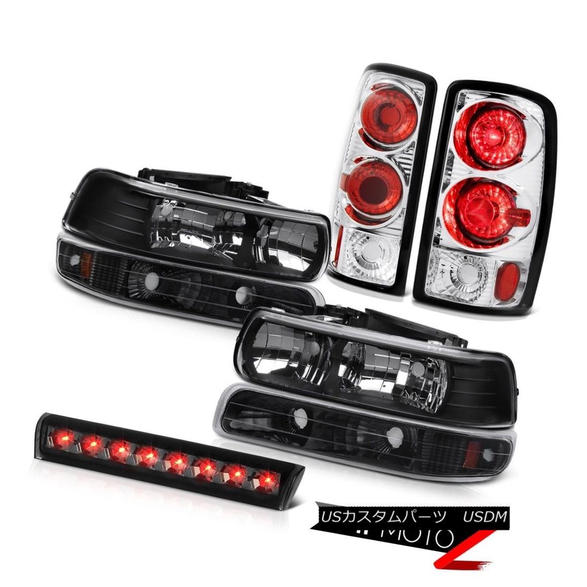 ヘッドライト 00 01 02 03 04 05 06 Chevy Tahoe Black Headlamps Onyx Bumper Lights Third Brake 00 01 02 03 04 05 06シェビータホブラックヘッドランプオニキスバンパーライトサードブレーキ