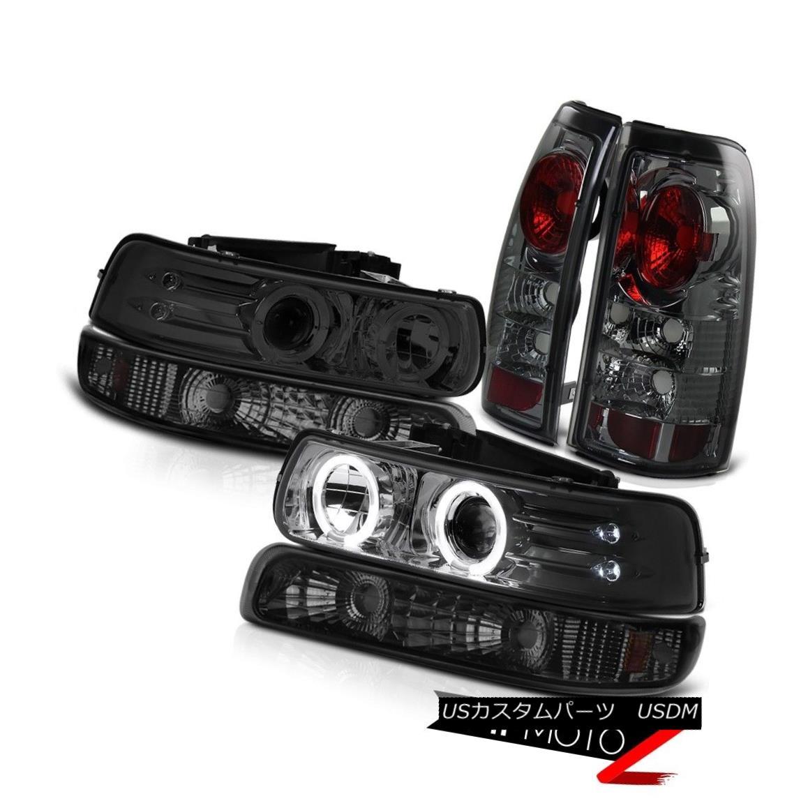 ヘッドライト Tinted Halo Headlights Bumper Tail Brake Light Lamps 99 00 01 02 Silverado 1500 有色ハローヘッドライトバンパーテールブレーキライトランプ99 00 01 02シルバラード1500