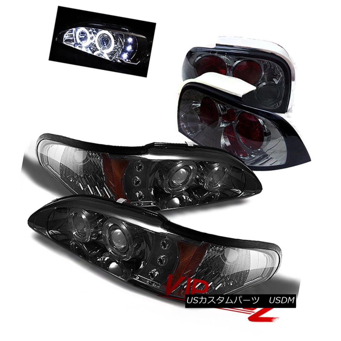 ヘッドライト 94-96 Ford Mustang V8 GT Smoke 1PC Headlight+Corner Lamp+Altezza Tail Light L+R 94-96フォードマスタングV8 GT煙1PCヘッドライト+コーン erランプ+ AltezzaテールライトL + R