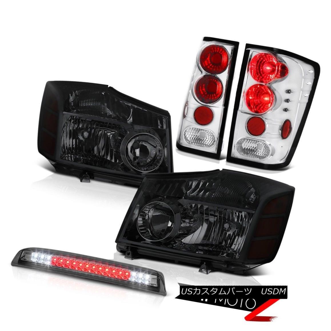 ヘッドライト For 2004-2015 Titan Pair Smoke Headlamps Tail Lights Rear Lamp 3rd Brake Cargo 2004?2015年度タイタン・ペア・スモーク・ヘッドランプテール・ライトリア・ランプ第3ブレーキ・カーゴ