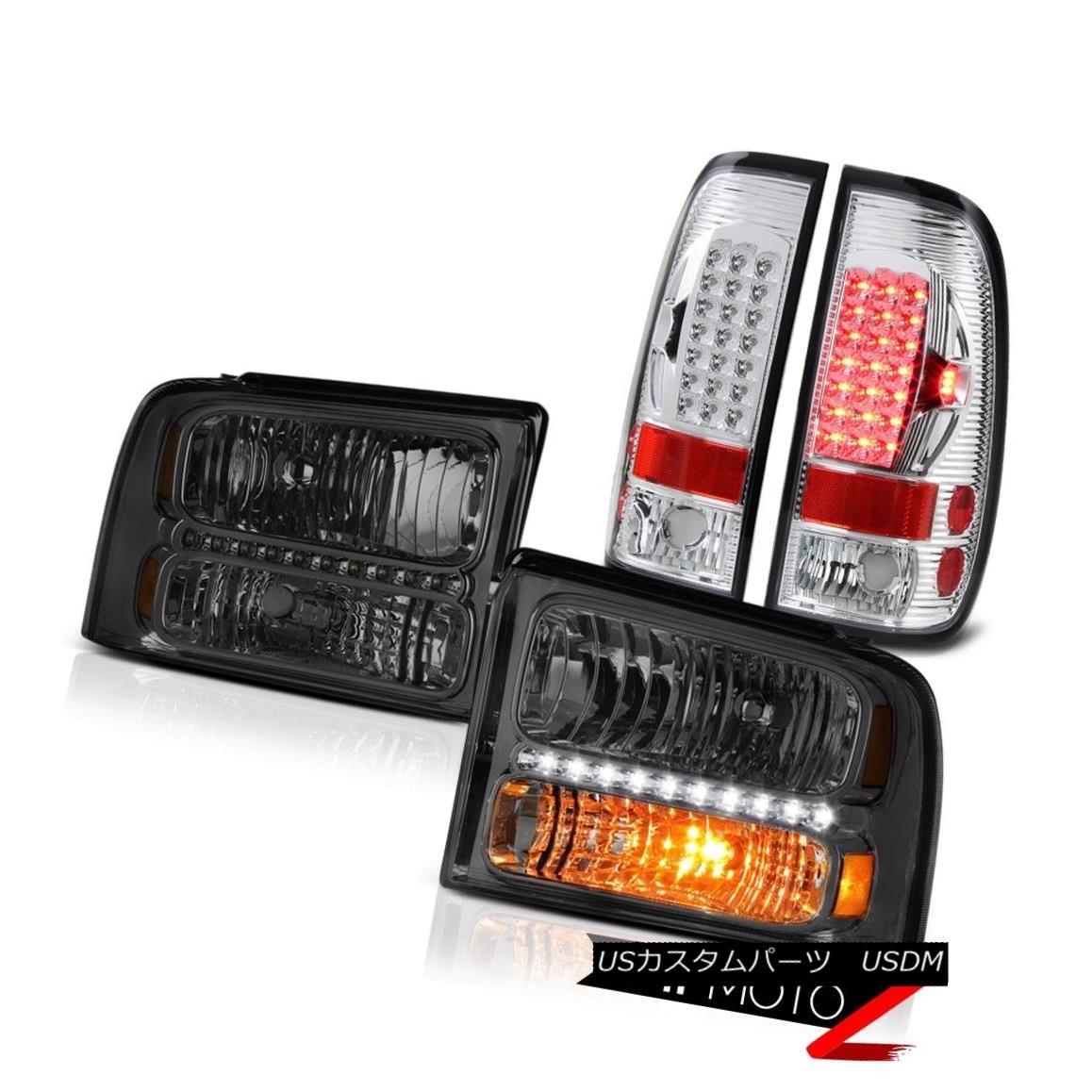 ヘッドライト Tinted Crystal Headlamps Chrome LED Taillamps 2005 2006 2007 Ford F350 Lariat ティンテッドクリスタルヘッドランプChrome LED Taillamps 2005 2006 2007 Ford F350 Lariat