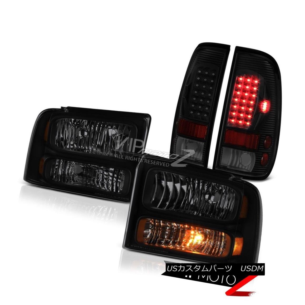 ヘッドライト 05 06 07 F350 Harley Davidson Sinister Black Taillamps Headlights LED Oe Style 05 06 07 F350ハーレーダビッドソンシニスターブラックタイランプヘッドライトLED Oeスタイル