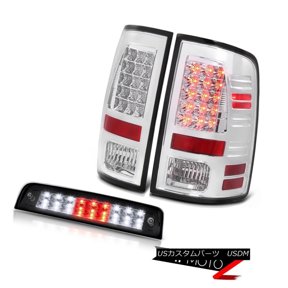 ヘッドライト 13-18 Ram 1500 6.4L 3RD Brake Light Clear Chrome Tail Lamps LED