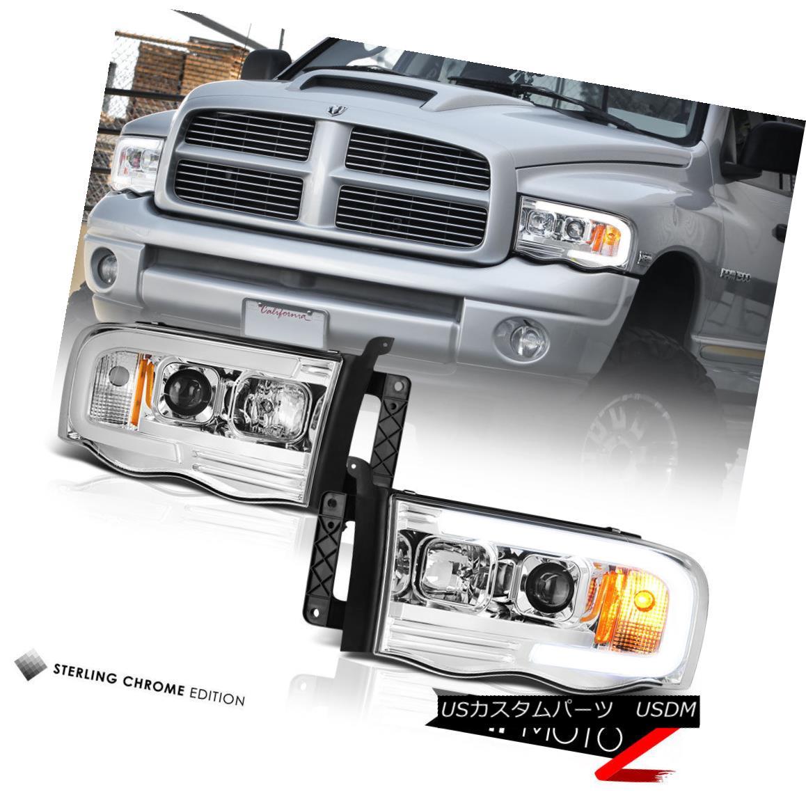 ヘッドライト 02-05 Dodge RAM Pickup 1500 2500 3500 LED Bar Neon DRL Tube Projector Headlight 02-05ダッジRAMピックアップ1500 2500 3500 LEDバーネオンDRLチューブプロジェクターヘッドライト