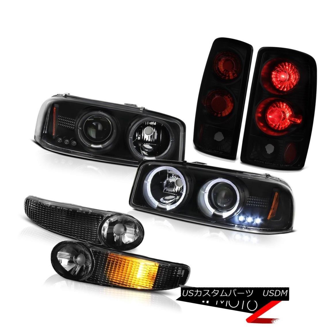 ヘッドライト 03 04 05 06 Yukon DRL LED Angel Eye Headlights Bumper Signal Reverse Tail Lights 03 04 05 06ユーコンDRL LEDエンジェルアイヘッドライトバンパーシグナルリバーステールライト