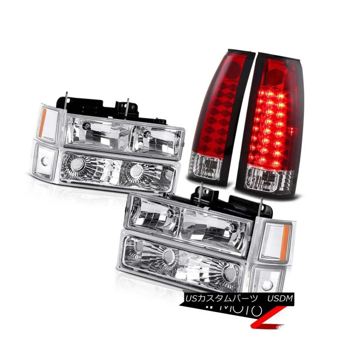 ヘッドライト Suburban 1500 2500 Silverado CK New Bumper Corner Headlights Red LED Brake Lamps 郊外1500 2500 Silverado CK新しいバンパーコーナーヘッドライト赤色LEDブレーキランプ