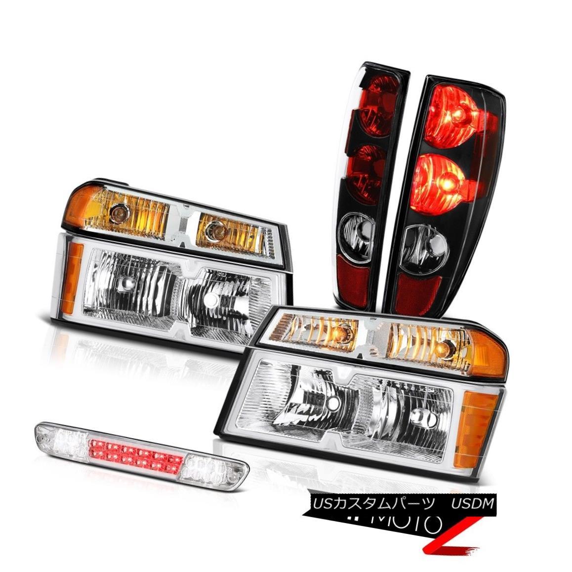 ヘッドライト 04 05 06 07-12 Colorado Black Tail Light Clear Chrome Set Head Led 3Rd Brake L+R 04 05 06 07-12コロラドブラックテールライトクリアクロムセットヘッドLed 3RdブレーキL + R