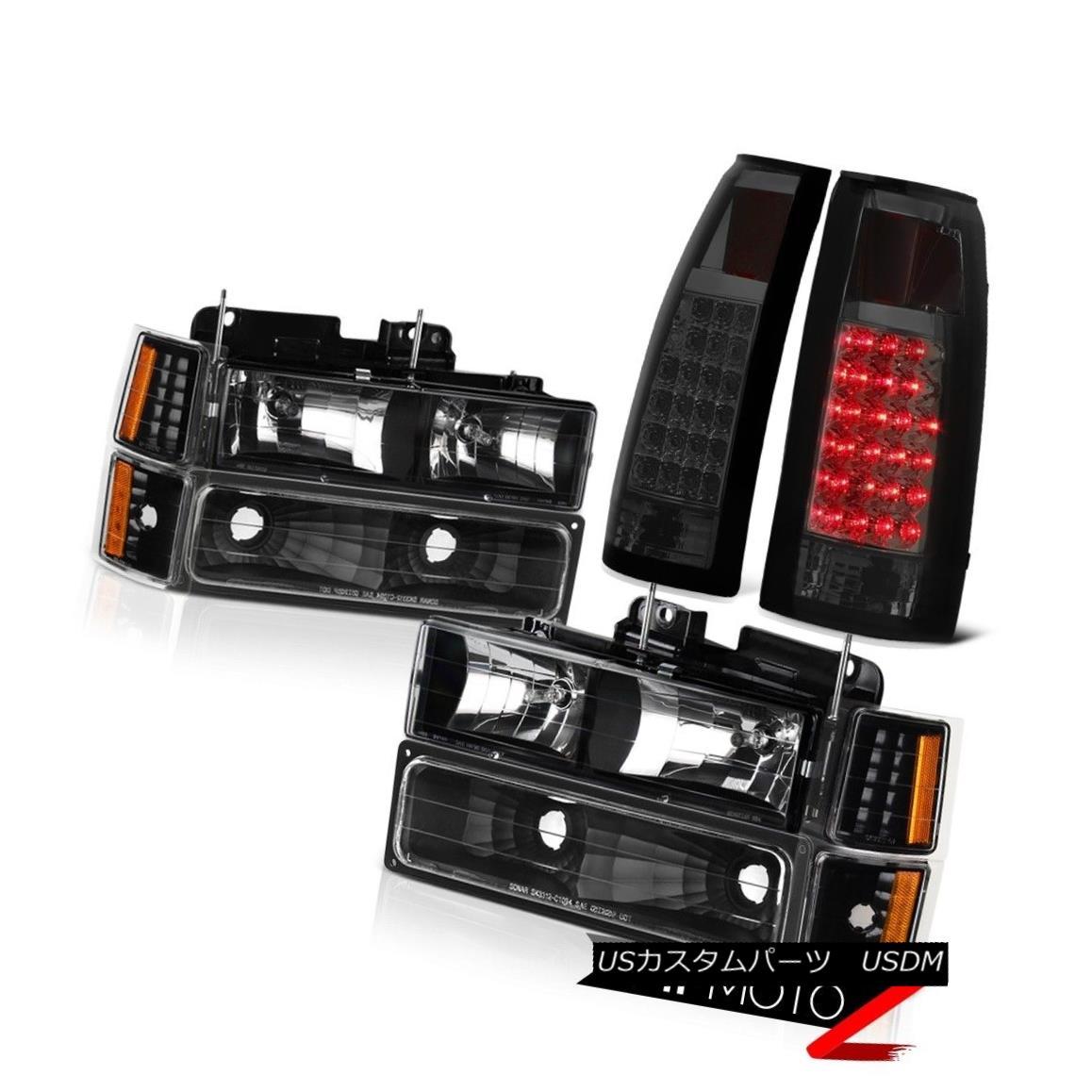 ヘッドライト Smoke Brake Lamps w/ LED + Headlights Bumper 1994-1998 Chevy Suburban 1500 2500 スモークブレーキランプ(LED +ヘッドライトバンパー付き)1994-1998 Chevy Suburban 1500 2500