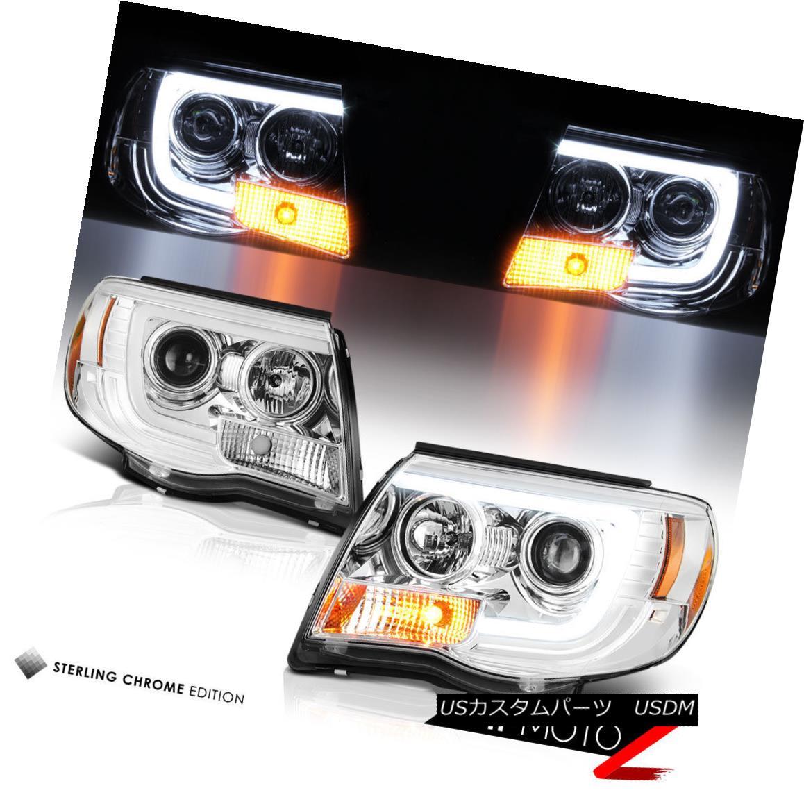 ヘッドライト 05-11 Toyota Tacoma {Cyclop Optic} Neon LED DRL Tube Projector Headlight Lamp 05-11トヨタタコマ{Cyclop Optic}ネオンLED DRLチューブプロジェクターヘッドライトランプ