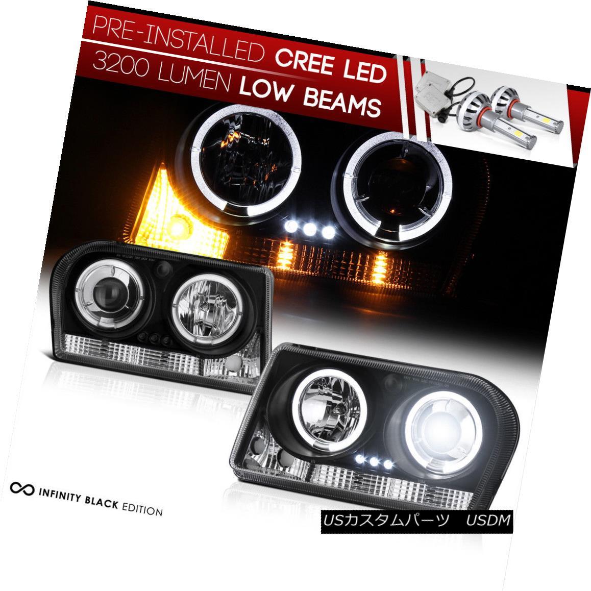 ヘッドライト INTEGRATED LED LOW BEAM 2005-2010 Chrysler 300 HALO ANGEL EYE LED Headlight PAIR インテグレーテッドLEDロービーム2005-2010クライスラー300ハローエンジェルアイLEDヘッドライトペアー