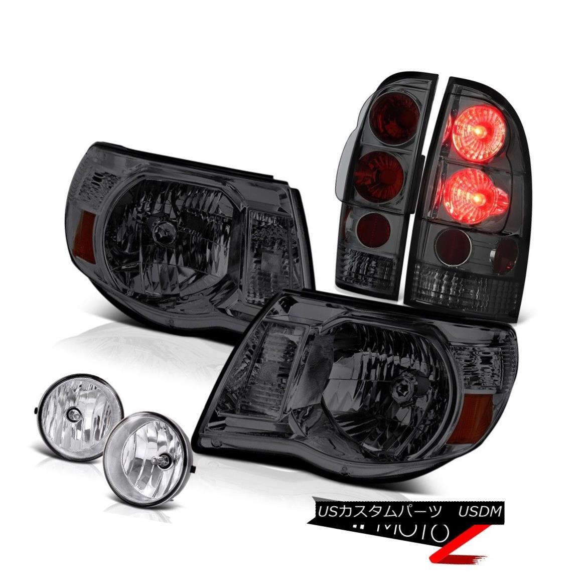 ヘッドライト Left Right Smoke Headlights Rear Brake Lights Chrome Fog 05-11 Tacoma X-Runner 左右スモークヘッドライトリアブレーキライトクロムフォグ05-11タコマXランナー