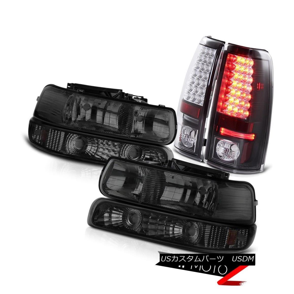 ヘッドライト 99 00 01 02 Chevy Silverado Smoke Headlights Corner Lamp Black LED Tail Light 99 00 01 02シボレーシルバラードスモークヘッドライトコーナーランプブラックLEDテールライト